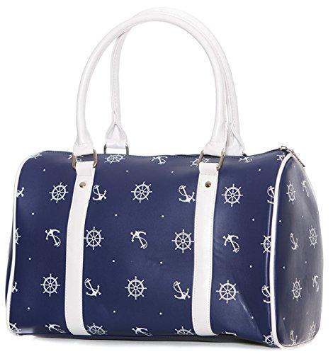 voodoo-vixen-anchor-sac-fourre-tout-imprime-marin-retro-bleu-taille-unique