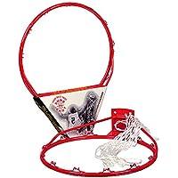 Sure Shot - Aro de baloncesto con red, color rojo y blanco