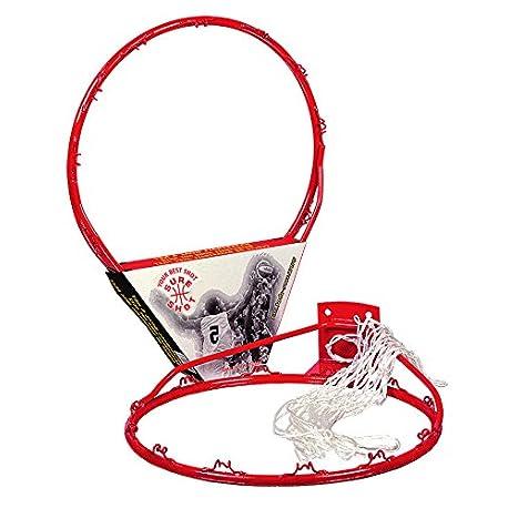 Sure Shot Aro de baloncesto con red color rojo y blanco