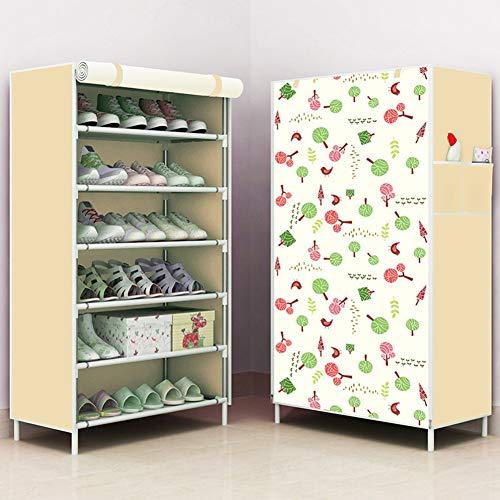 XUE Schuh-Rack, Platz spart einfache schmale und kleine abnehmbare Gruppe Laden Schuh-Veranstalter Durbar und Stall für Heels Boots Slippers Schuhe Schuh Schniptraum,A