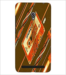 PrintDhaba Casette D-5503 Back Case Cover for ASUS ZENFONE 6 A601CG (Multi-Coloured)