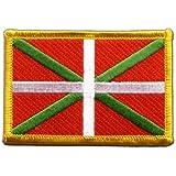Écusson brodé Flag Patch Pays Basque - 8 x 6 cm