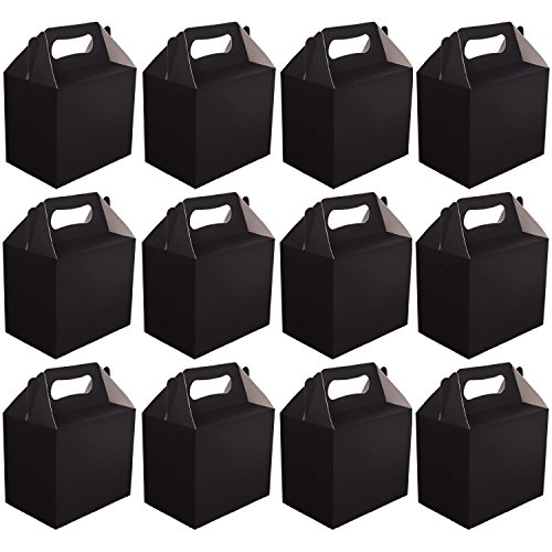 mega-pack-12-x-paper-card-lunch-boxes-party-present-gift-box-parties-lunchboxes-choose-colour-black