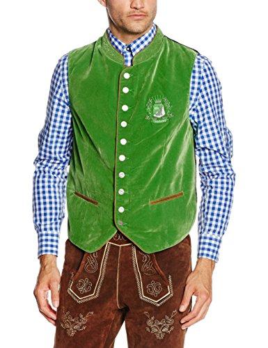 Fuchs Trachtenmoden Herren Trachtenweste, Grün (Grün), 56