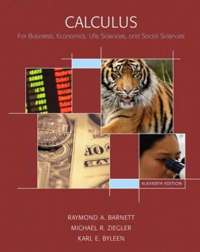 Calculus for Business, Economics, Life Sciences & Social Sciences + Tutor Center + Student Solutions Manual