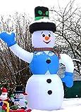 XXXXXL LED BELEUCHTETER Schneemann 6 Meter HOCH~600 cm~Inflatable~SELBSTAUFBLASEND~LED Beleuchtet~Garten DEKO Figur~Air Blown~WEIHNACHTSDEKO~Weihnachtsmann~AIRBLOWN~AUFBLASBAR