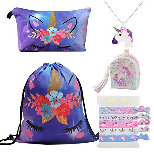 DRESHOW 5 Pack Cute Unicorn Mochila cordón/Bolsa