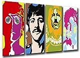Wandbild - Bild Beatles, John Lennon, Paul McCartney, 131x 62 cm, Holzdruck - XXL Format - Kunstdruck, 26097