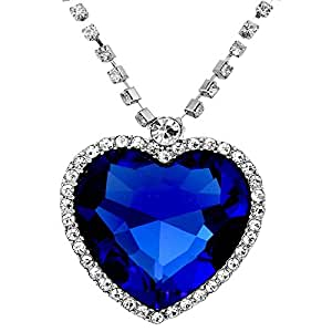Buy Caratcube Sapphire Blue Austrian Crystal Heart Of The