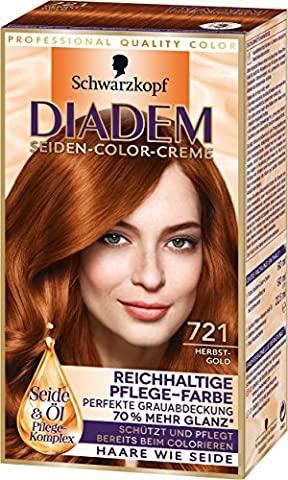 Diadem Seiden-Color-Creme, 721 Herbstgold, 3er Pack (3 x 142 ml)