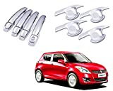 #10: Auto Pearl - Premium Quality Chrome Handle Bowl Insert Trim Cover For - Maruti Suzuki Swift Type-3