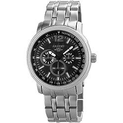 Akzent Herren-Armbanduhr XL Analog Quarz verschiedene Materialien ss8871100006