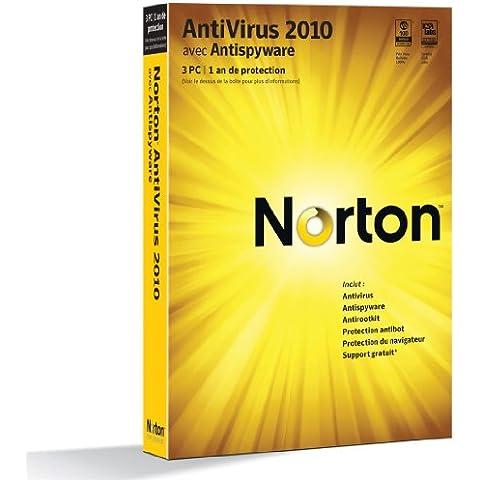 Symantec Norton AntiVirus 2010, 3 Users, FR - Seguridad y antivirus (3 Users, FR, 3 usuario(s), FRE, Win, 200 MB, 256 MB, 300