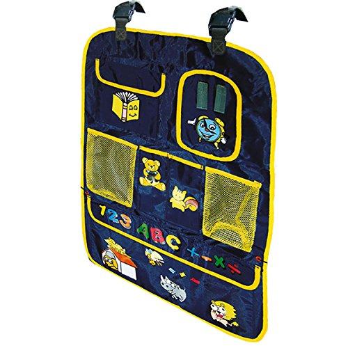 Reer 8405 - Organizador con bolsillos para coche, color azul