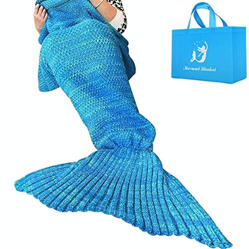 AM SeaBlue Mantas cola sirena adultos Patrón hecho