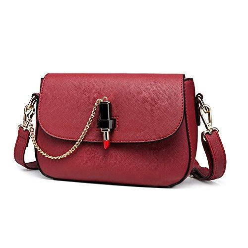 Piccolo pacchetto di estate, mini spalla della marea di modo ha spostato lo zaino, versione coreana del sacchetto semplice selvaggio selvaggio ( Colore : Bianca ) Rosso