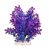 Sonline Planta Artificial Plastico Decoracion para Acuario Pecera Color Purpura Azul