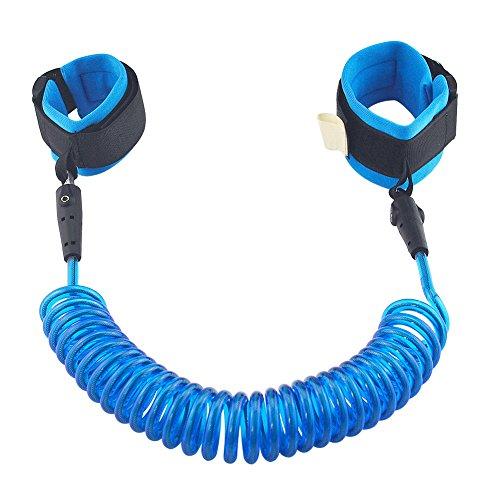 ASIV 1,5M Anti-Lost Strap Safety Klettverschluss Armband für Kleinkinder, Babys & Kids - Blau