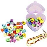 FEITONG Los granos en forma de corazón juguetes de madera de juguete del niño para cambiar cuerdas de juegos mixtos Animales regalo de la fruta (free size)