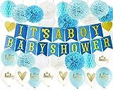 Baby Shower Decorations for Boy Es un niño fieltro Bunting Banner con...