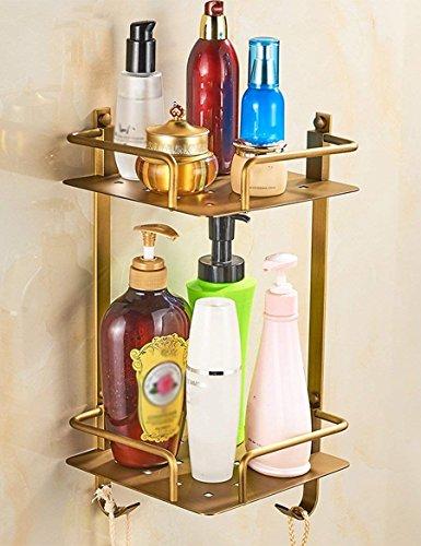 XQY Hochwertiges Küchen-Badezimmer-Regal, volles kupfernes antikes Dreieck-Korb-Gestell Europäisches Duschsaal-Zahnstangen-Retro- Speicher-Badezimmer-Gestell, Das Qualität, Tuch-Zahnstange sichert