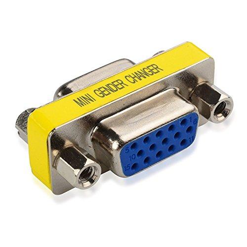 NiceButy 15 HD/DB/15 KVM VGA/SVGA Mini Adapter für weibliche und männliche Stecker, 1 Stück - Anschluss Hddb15 15-polig