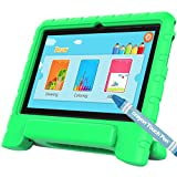 TURNMEON Kids Android Tablet PC, 7Inch IPS Display WiFi Dual Camera Games Quad Core,8GB,1GB RAM,Pre-install Parents Control OS (Kids Proof Holder Case+ Stylus Pen Included) (Green)