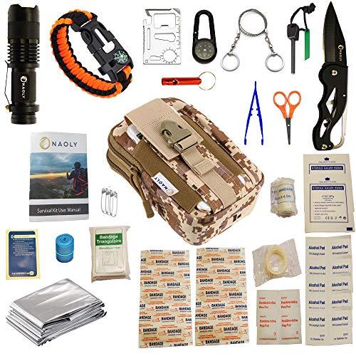 Kit De Survie 47 En 1 Avec Trousse Militaire Molle Et Premier Secours Inclus....