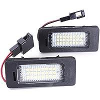 Luz de matricula de licencia - SODIAL(R)2x LED Luz de matricula de licencia, Error Free Blanco