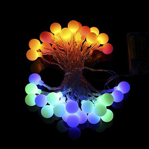 Mehrfarbige LED-Lichterkette - tolle Party- oder Gartendeko!