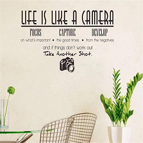 Das Leben Ist Wie Eine Kamera Kreatives Zitat Wandaufkleber Vinyl Wandaufkleber Dekoration Tapete Wandbild Kunst - Ist Das Eine Kamera Wie Leben