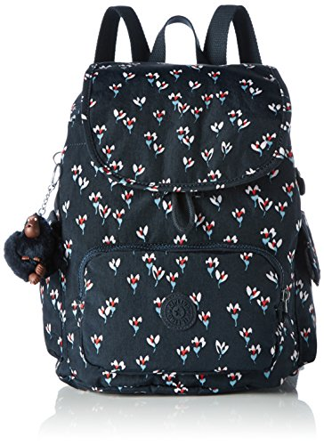 Kipling City Pack S, Sacs à dos femme, Mehrfarbig (Small Flower), One Size