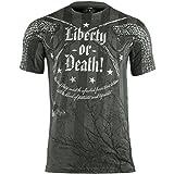 7.62 Design Herren Liberty or Death T-Shirt Charcoal Größe XL