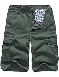 31505cf26205 ZIYOU Herren Cargohose Einfarbig Männer Casual Outdoor Sweatpants Strand  Freizeithose Arbeitshose Shorts