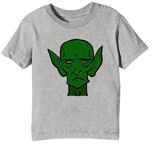 Jungen Mädchen T-Shirt Rundhals Grau Kurzarm Größe XL Kids Boys Girls Grey X-Large Size XL (Kobold-geschichten)