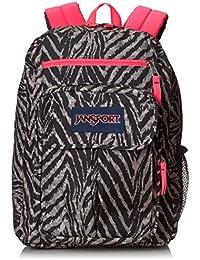 "JanSport Digital Student Backpack - Grey Tar Wild At Heart / 17.5""H x 13""W x 10""D"