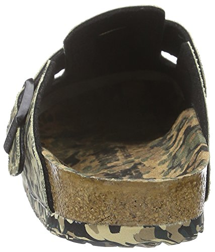 Birkenstock Unisex-Erwachsene Boston Textil Clogs Mehrfarbig (All Over Camo Khaki)