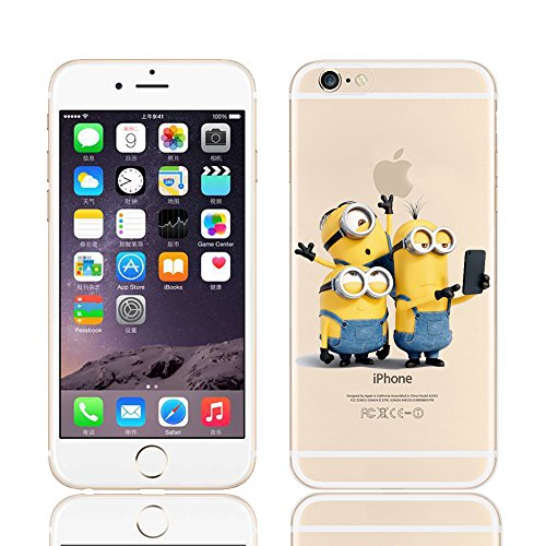 MINIONS TRANSPARENT CLEAR TPU SOFT CASE FOR APPLE IPHONE 7 PLUS KEVIN 3 MINIONS 5