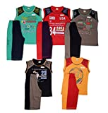 #4: 1lyShirts Boys' Sleeveless T-Shirt & 3/4 Set with five attractive colors with print design