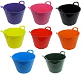 Set 3-26L Liter stabile Flexi Gorilla Tubs Ramika's Tablett-Set Wäsche/Aufbewahrung/Baumeister Garten Eimer