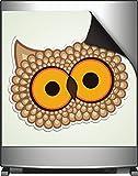 Wallario Magnet für Kühlschrank / Geschirrspüler, magnetisch haftende Folie - 60 x 60 cm, Motiv: Lustige Comic Eule mit großen Augen
