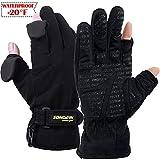 Songwin wasserdichte Winterhandschuhe,3M Thinsulate Ski & Snowboard Handschuhe für Herren und Damen,Touchscreen-Handschuhe zum Angeln,Fotografieren,Jagen im Freien.(Schwarz, XL)