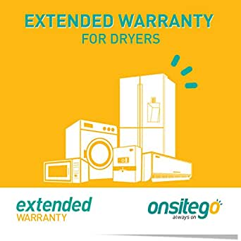 OnsiteGo 4 Year Extended Warranty for Dryers (Rs. 0 to Rs. 25,000)