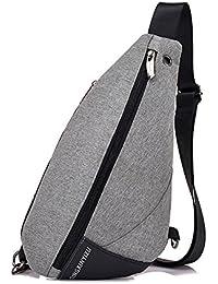 e3c3f61ce Xuanbao Bolsas de Hombro Bolsas Crossbody Rope Chest Pack Crossbody Bolso  de Hombro Ligero Casual para Hombres Mujeres viajan al…