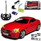 Mercedes-Benz SLK Coupe Rot Ab 2011 - Komplettset mit Akku - RC Funkauto - mit Beleuchtung - sofort startklar - 1/14 Modell Auto mit individiuellem Wunschkennzeichen