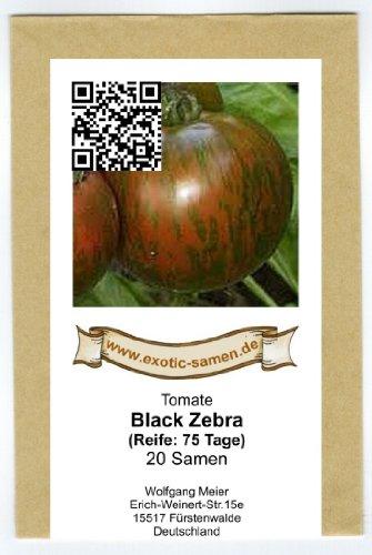 aromatische, schwarz-grün gestreifte Tomate - black Zebra - 20 Samen -