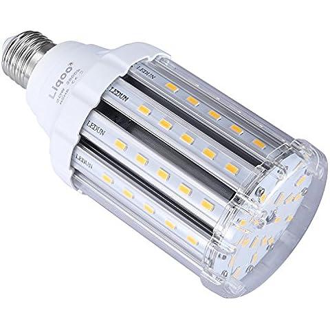 Liqoo® E27 20W Bombilla LED Lámpara Aluminio y Plástico Blanco Cálido 2800K AC 85-265V Ángulo de Haz 360° 2000 Lumen Sustituye la lámpara Halógena de 110W