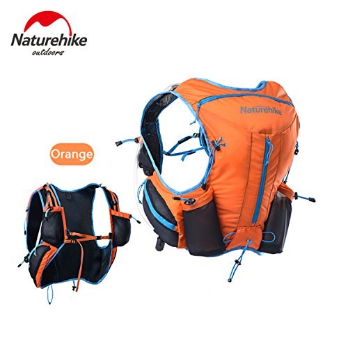 Naturhike leichte Damen Herren Marathon Rucksack Wandern Taktische Packs Laufende Tasche Running Bag 12L Orange