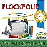 (EUR 25,80 / Quadratmeter) FLOCKFOLIE DARK GREEN 504 BÜGELFOLIE TOP ! Preistip Flex Flock 1 M x 50 cm