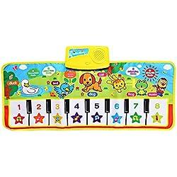 Bambini Inglese Musicale Pianoforte Musica Tappeto Baby Kids Play Mat Coperta Giocattoli elettronici educativi Regalo per regali di Natale